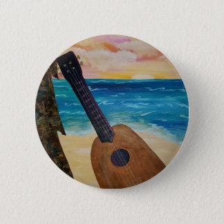 hawaii sunset pinback button