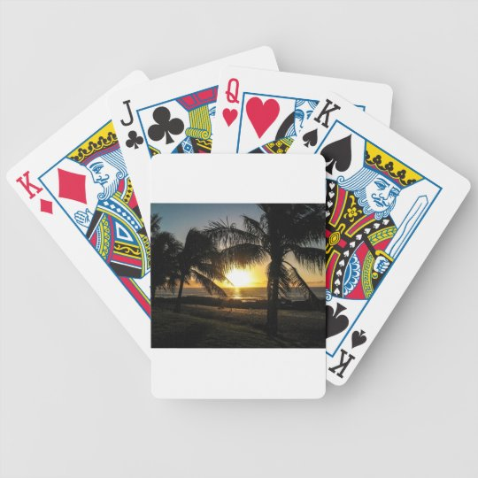 Hawaii Sunset Sharks Cove Bicycle Playing Cards