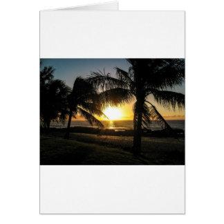 Hawaii Sunset Sharks Cove Card
