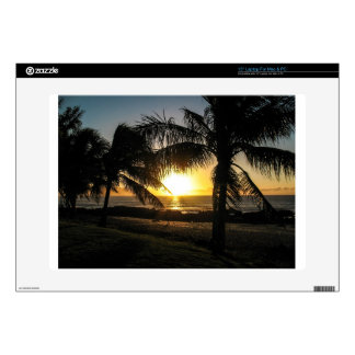 Hawaii Sunset Sharks Cove Decals For Laptops