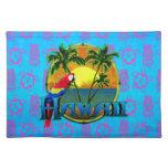 Hawaii Sunset Tiki Mask Placemat