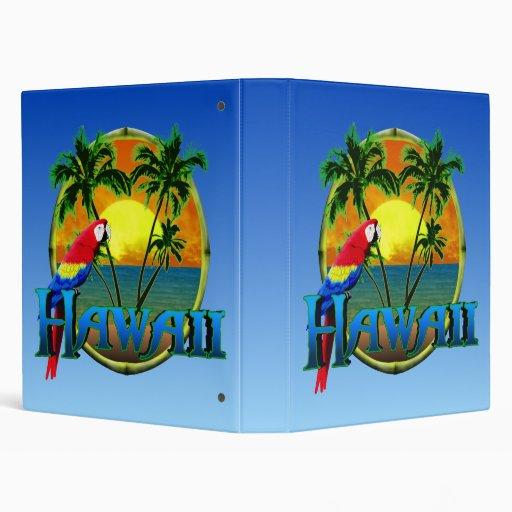 Hawaii Sunset Vinyl Binder