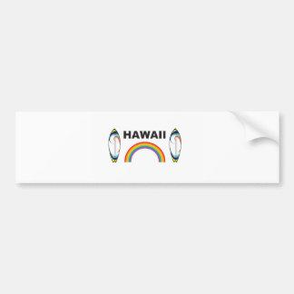 hawaii surf boards bumper sticker