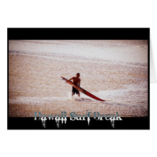 Hawaii Surf Break Surfs Up Card