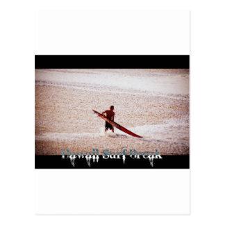 Hawaii Surf Break Surfs Up Postcard