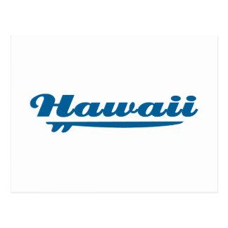 Hawaii surfboard postcard