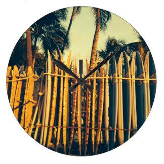 Hawaii Surfboard Rack Clock