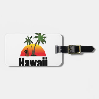 hawaii surfer tag for luggage