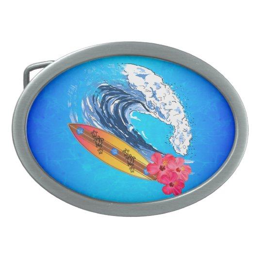 Hawaii Surfing Belt Buckle