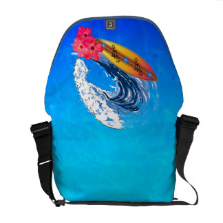 Hawaii Surfing Courier Bag