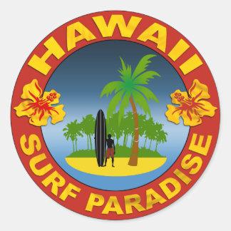 Hawaii surfing design sticker