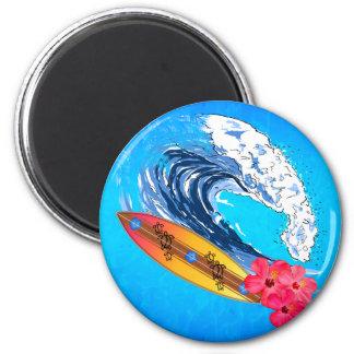 Hawaii Surfing Refrigerator Magnet