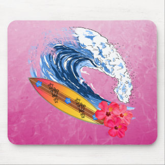 Hawaii Surfing Mouse Pad