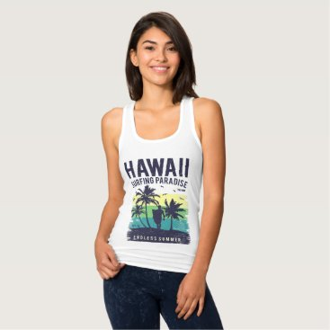 Hawaii Surfing Paradise Endless Summer Tank Top