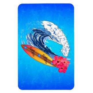 Hawaii Surfing Rectangular Magnet