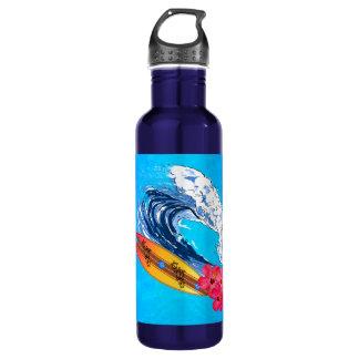 Hawaii Surfing Stainless Steel Water Bottle