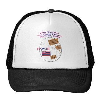 Hawaii Tax Day Tea Party Protest Baseball Cap Hats