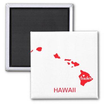 Hawaiian Themed Hawaii Teacher Magnet