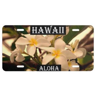 Hawaii The Aloha State (Pumeria) License Plate
