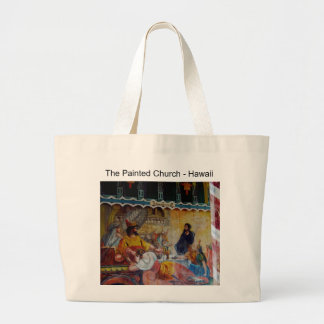 Hawaii : The Painted Church Tote Bags