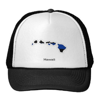 Hawaii Thin Blue Line Trucker Hat