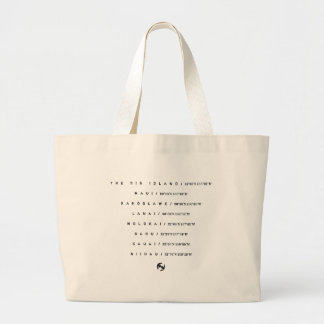 Hawaii Traditions Coordinates Jumbo Tote Canvas Bags