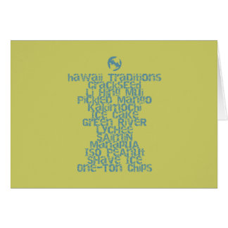 Hawaii Traditions Local Snack Greeting Card