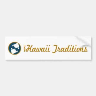 Hawaii Traditions Logo Bumper Sticker Car Bumper Sticker