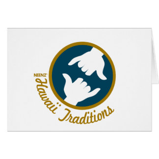 Hawaii Traditions Logo Greeting Card