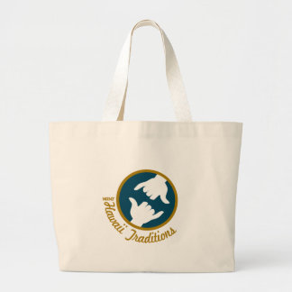 Hawaii Traditions Logo Jumbo Tote Canvas Bags