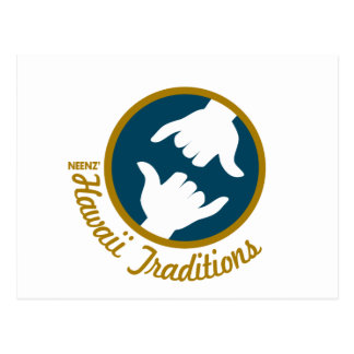 Hawaii Traditions Logo Postcard (H)
