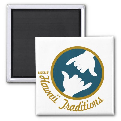 Hawaii Traditions Logo Square Magnet