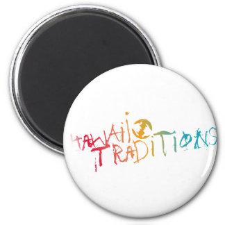 "Hawaii Traditions Shave Ice Colored 2.25"" Magnet"