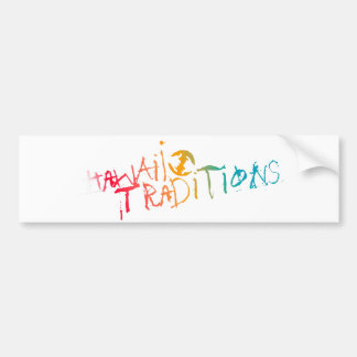 Hawaii Traditions Shave Ice Colored Bumper Sticker