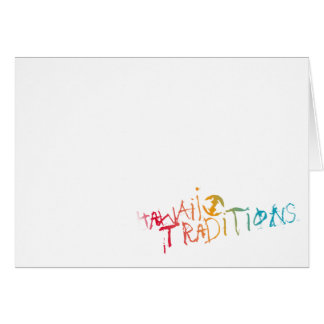 Hawaii Traditions Shave Ice Colored Greeting Card