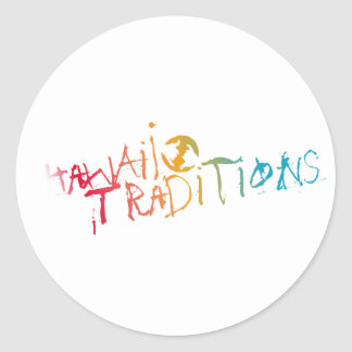 Hawaii Traditions Shave Ice Colored Sticker