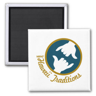 Hawaii Traditions Square Magnet