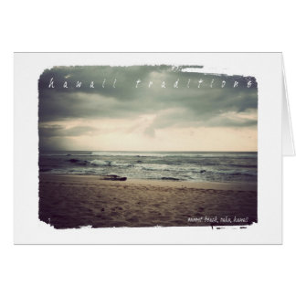 Hawaii Traditions, Sunset Beach Greeting Card