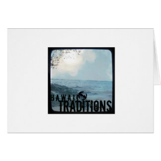 Hawaii Traditions Vintage Beach Greeting Card