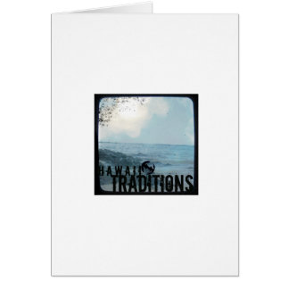 Hawaii Traditions Vintage Beach Greeting Card (V)