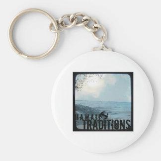 Hawaii Traditions Vintage Beach Photo Keychain
