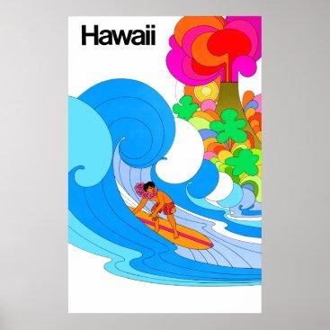 Hawaiian Themed Hawaii Travel Poster