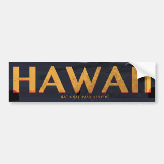 Hawaii Travel poster Bumper Sticker