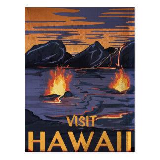 Hawaii Travel poster Postcard