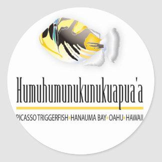 Hawaii trigger Fish - Humuhumunukunukuapua'a Classic Round Sticker