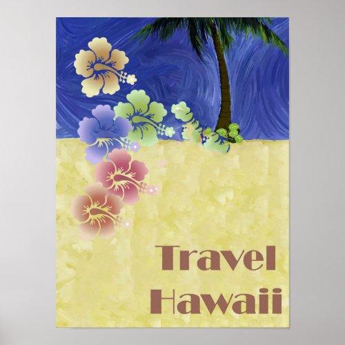 Hawaii Tropical Beach Retro Vintage Travel