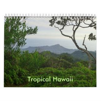 Hawaii tropical calendario