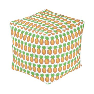 Hawaiian Themed Hawaii Tropical Hawaiian Island Pineapple Fruit Pouf