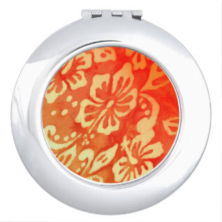 Hawaii Tropical Hibiscus Flower Compact Mirror