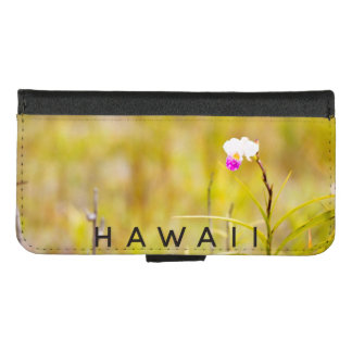Hawaii Tropical Orchid Volcanoes National Park iPhone 8/7 Wallet Case